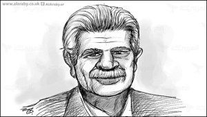 An artists' impression of Dr Farid (Uncle Farid), the Israeli-Greek oil broker