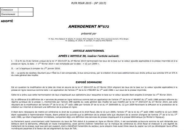 L'Assemblée nationale vote une amnistie fiscale pour Mediapart (Russia Today)