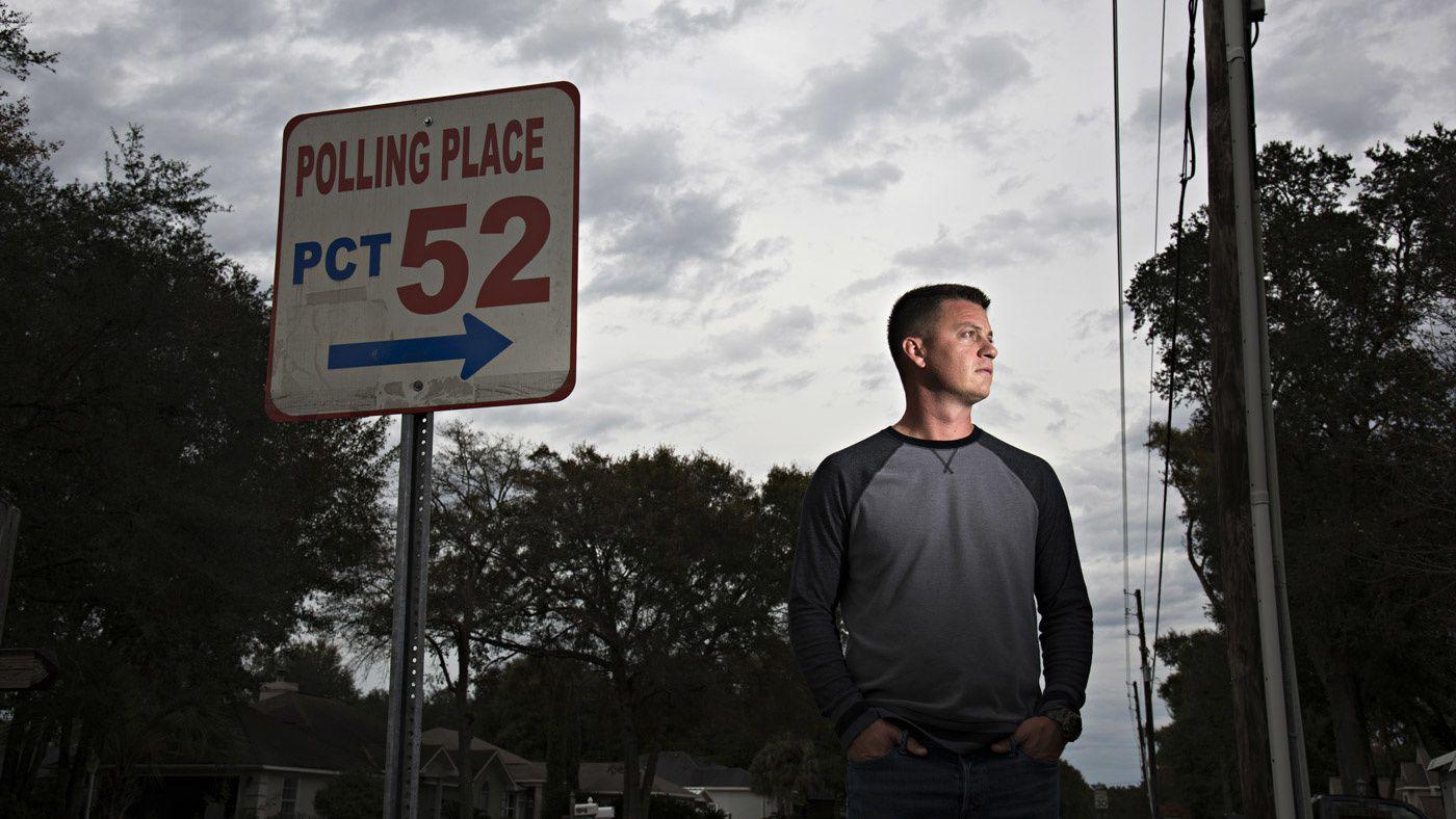 Sam Nimmo, 38 ans, originaire de Crestview en Floride, a passé près de 10 ans à essayer de récupérer ses droits civils. Photo : Melissa Lyttle pour The Incercept