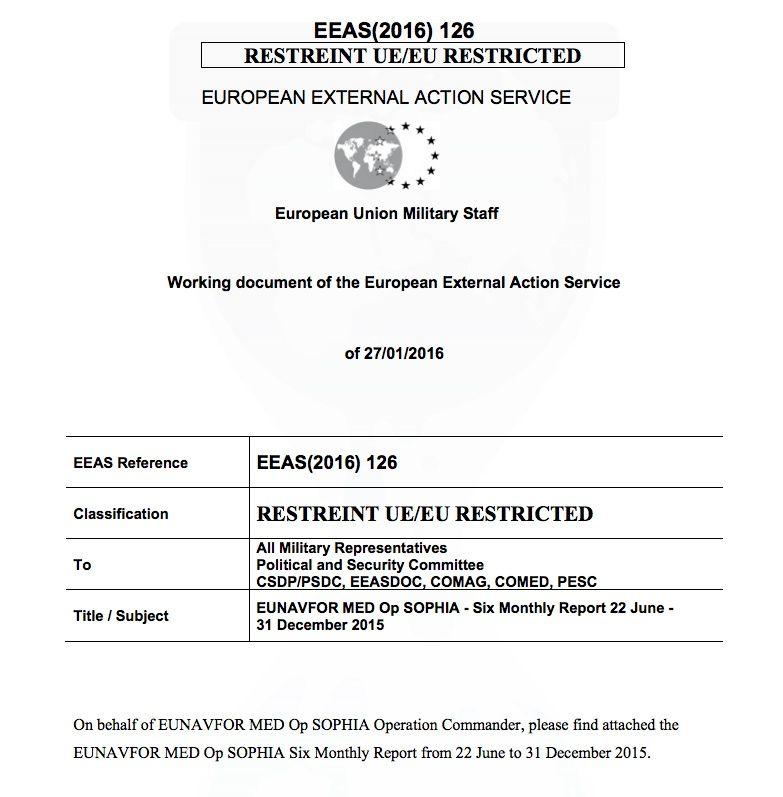 La fuite d'un document indique qu'il pourrait y avoir prochainement une opération militaire européenne en Libye (Vice)