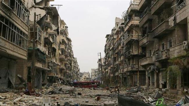 La ville dévastée d'Alep. © REUTERS