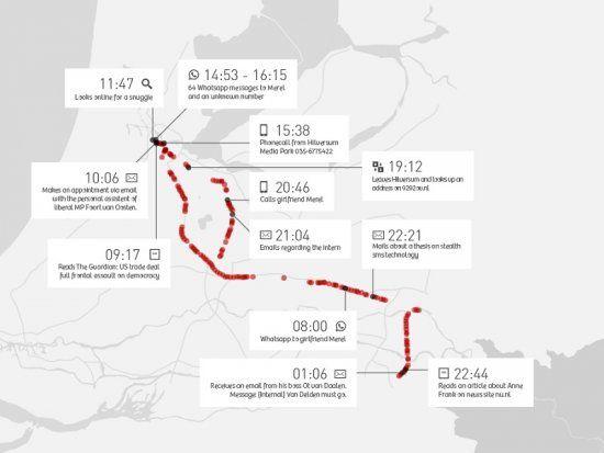 Un jour dans la vie de Ton Siedsma : le mardi 12 novembre 2013. Ce jour-là, il ne prend pas son trajet habituel, qui l'aurait fait rentrer à Nimègue depuis Amsterdam via Utrecht. Il reçoit un coup de fil de Hilversum et fait un détour par le Mediapark avant de rentrer chez lui