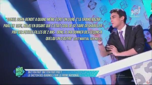 Dérapage - Le chroniqueur Martial s'en prend en direct sur NRJ 12 à Daniel Cohn-Bendit et &quot&#x3B;les petites filles de 2 ans qui le déshabillent&quot&#x3B; (vidéo)