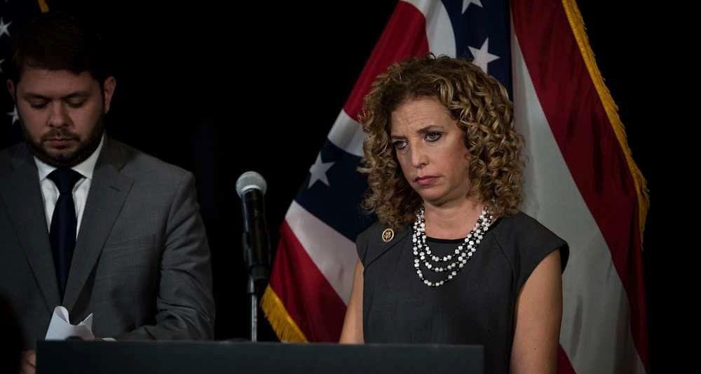 La présidente du parti démocrate étatsunien, Debbie Wasserman Schultz. (c) SIPANY/SIPA
