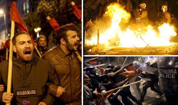 [Vidéo] Grèce en flammes : Emeutes au cri de &quot&#x3B;Barack rentre chez toi !&quot&#x3B; alors que Barack Obama arrive à Athènes  (Express.co.uk)