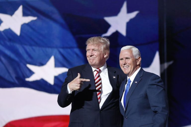 Donald Trump et Mike Pence (Photo AFP)