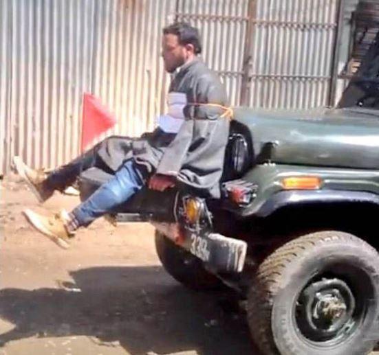 Les images d'un homme utilisé comme bouclier humain par l'armée déchaînent l'Inde (Huffington Post)