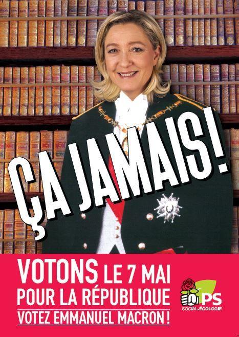 Un tract du PS anti Le Pen en faveur d'un vote Macron sera diffusé à 4 millions d'exemplaires dans l'entre-deux tours