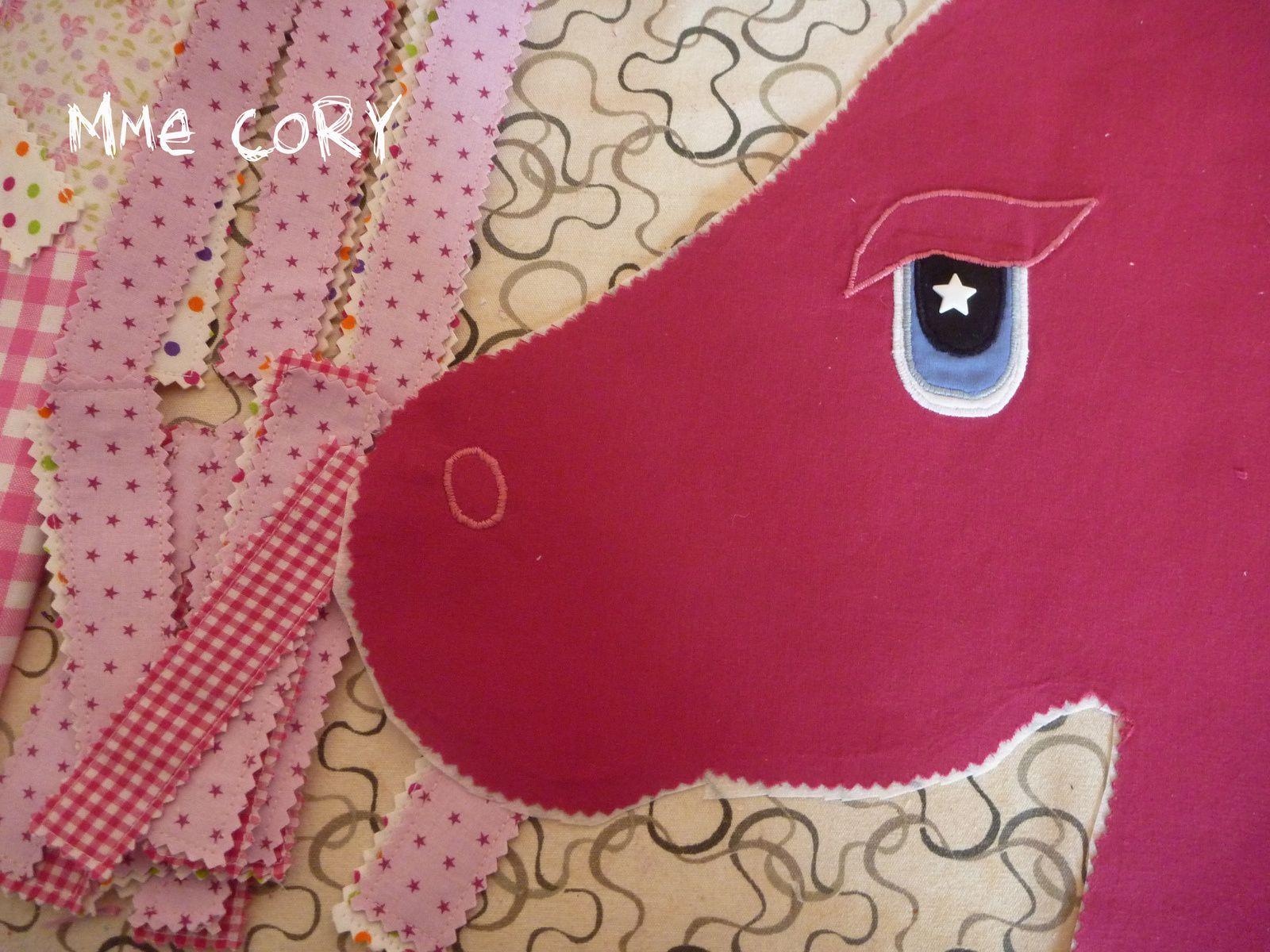 Une  jolie Monture pour les 2 ans de ma Poulette: DIY d'un cheval bâton!!!!!!