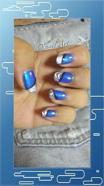 Swatch et nail art au papier foil