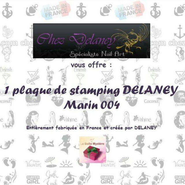 """Plaque stamping """"Marin 004"""" de Chez Delaney"""