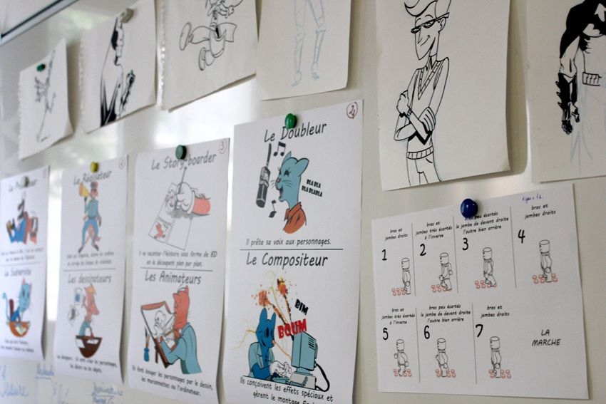 Interventions autour du dessin animé en école primaire / intervention in a primary school dealing on&quot&#x3B;how to create a cartoon moovie&quot&#x3B;