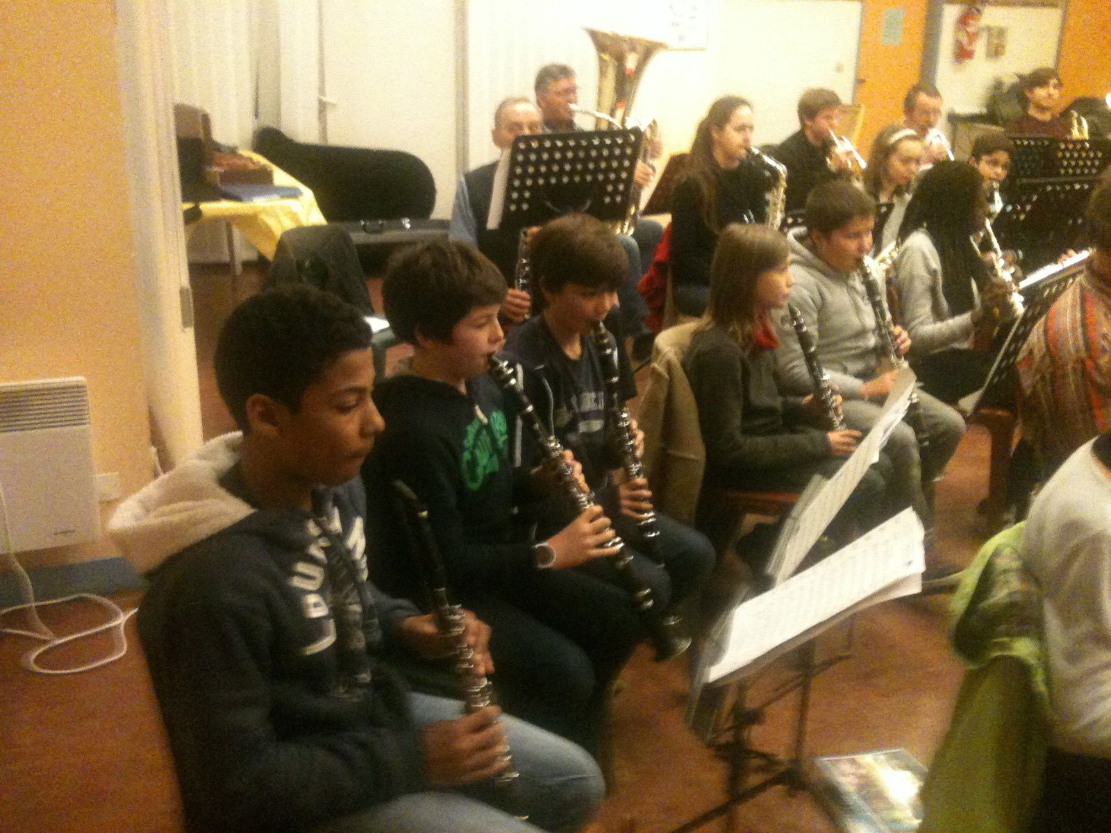 La répétition des orchestres du Houlme et de ND de BONDEVILLE