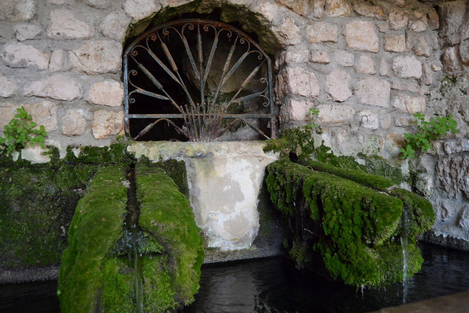 Plus de trente ans que j'habite la région est c'est seulement cette année que je m'arrête pour admirer cette fontaine située à 5 minutes de voiture de chez moi, à La Garde-Adhémar.