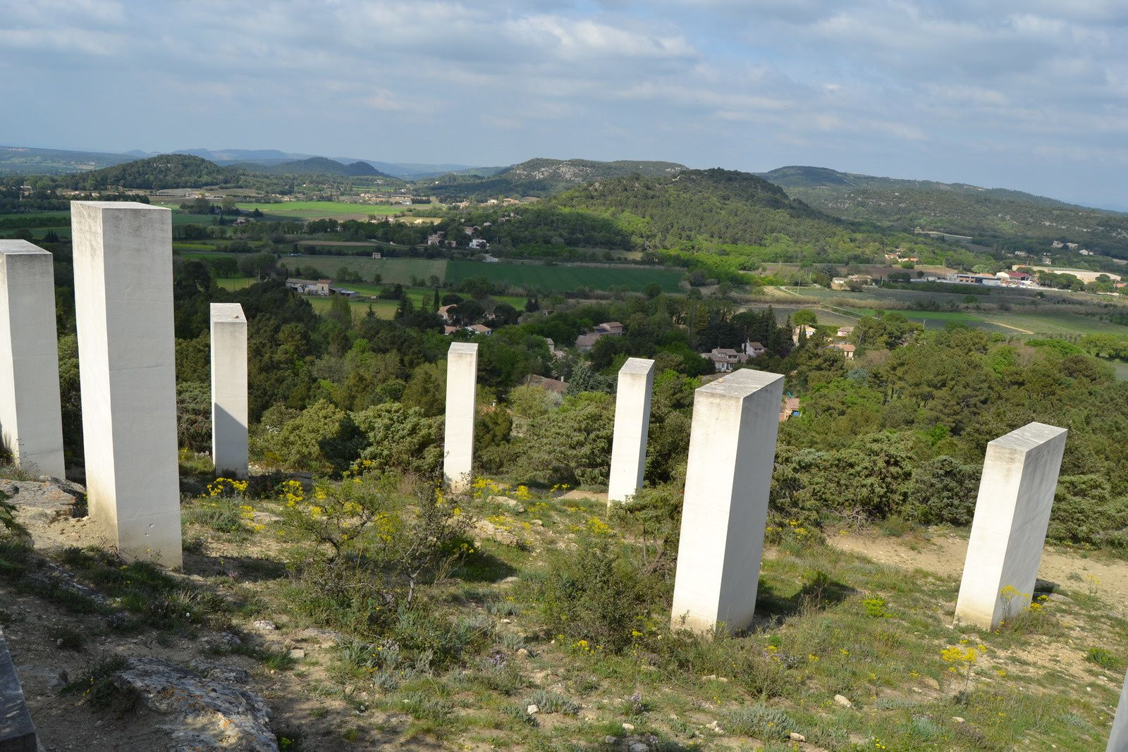 Les collines de Clansayes.