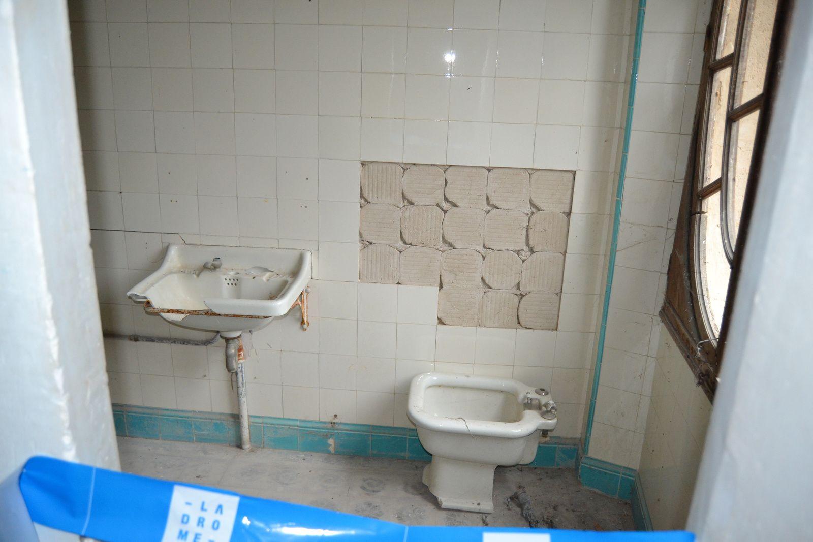Salle de bain, ou ce qu'il en reste...