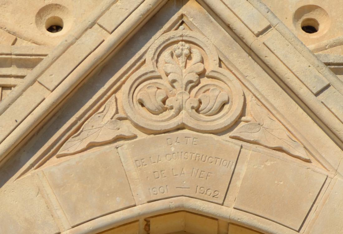 Date de la construction de la nef 1901-1902