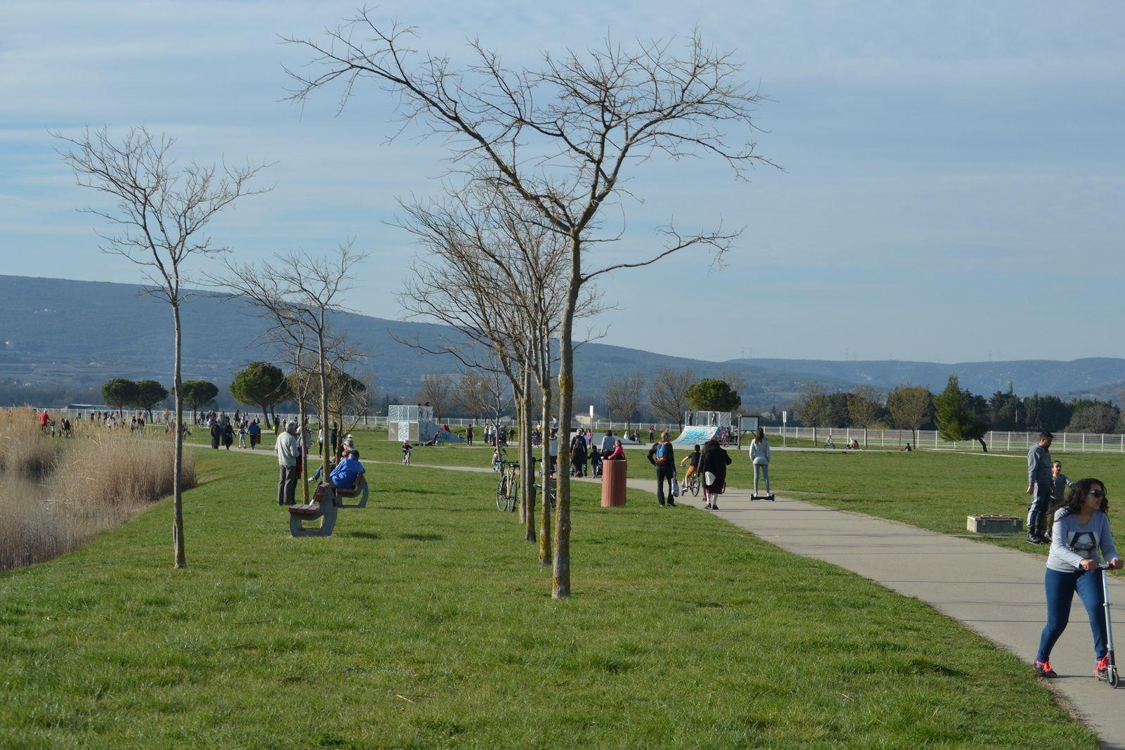 Il y a deux pistes autour du plan d'eau, une pour les rollers, les vélos et les marcheurs préférant le bitume sur une longueur de 2 km 567 et une autre sur une piste tout venant sur une distance de 2 km 900.