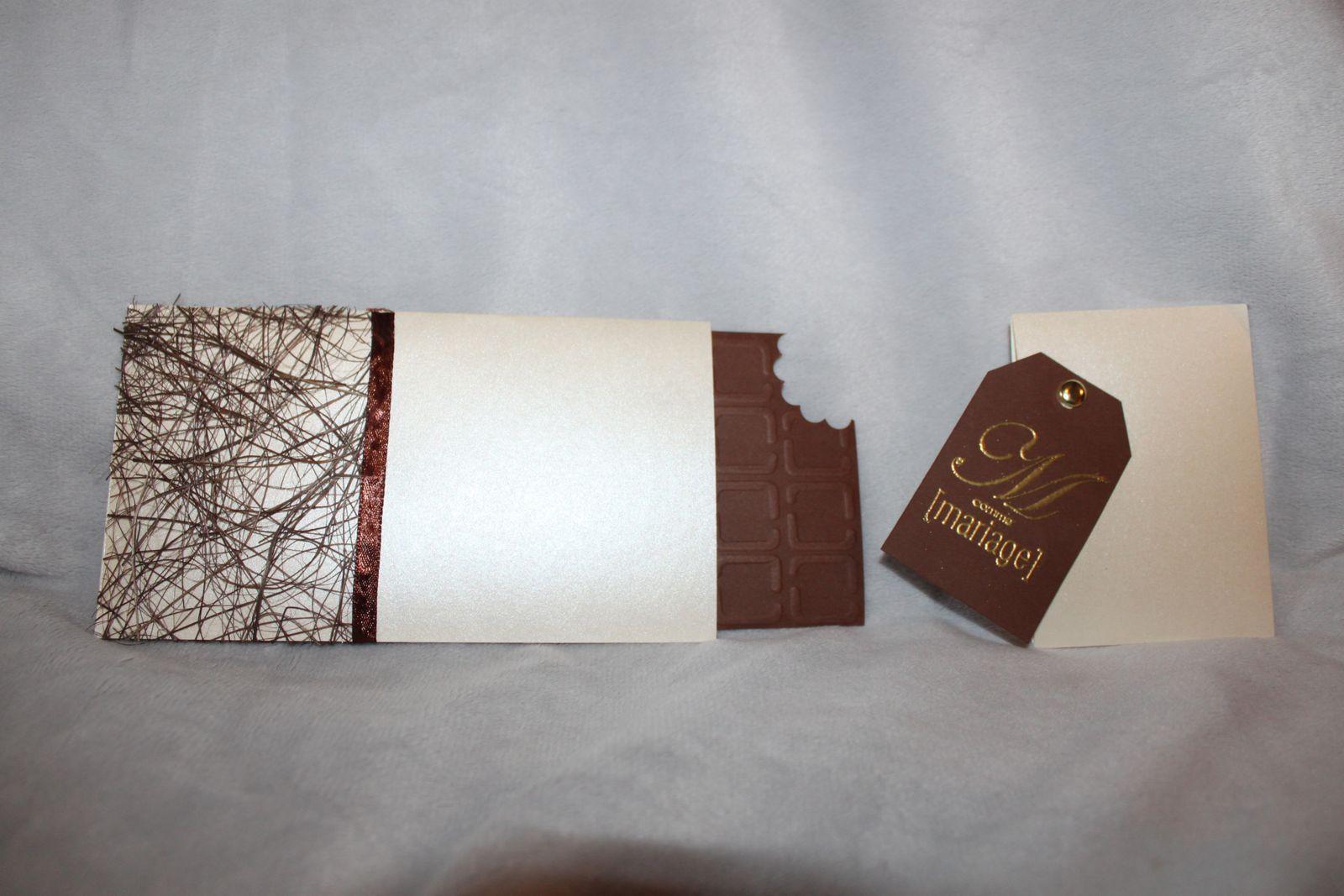 Super Faire Parts Mariage Thème Chocolat - Créativ'ment Votre EG53