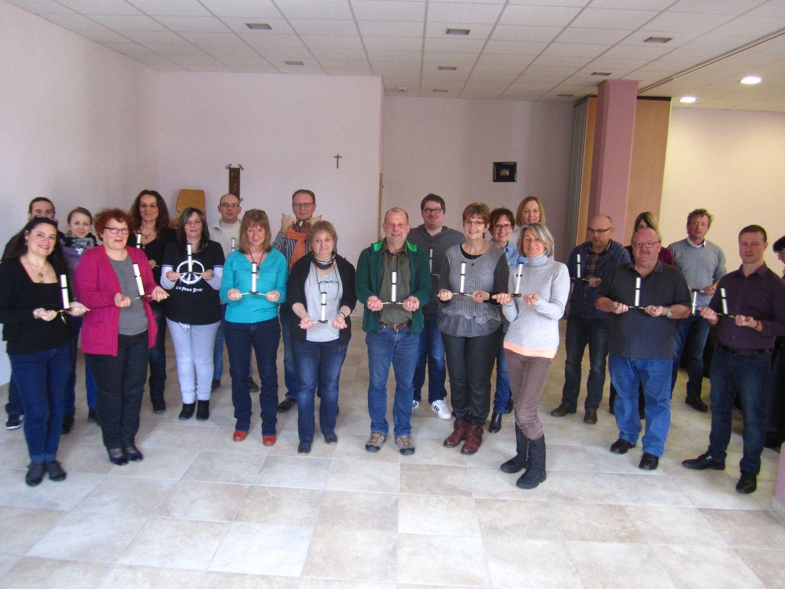 Formation geobiologie Arlon. Belgique Antenne Lecher Dim. 28 fevrier 2016