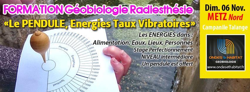 METZ-Formation Radiesthēsie Geobiologie : &quot&#x3B;Le PENDULE, Energies &amp&#x3B; Taux Vibratoires&quot&#x3B; Dimanche 06 NOV 2016