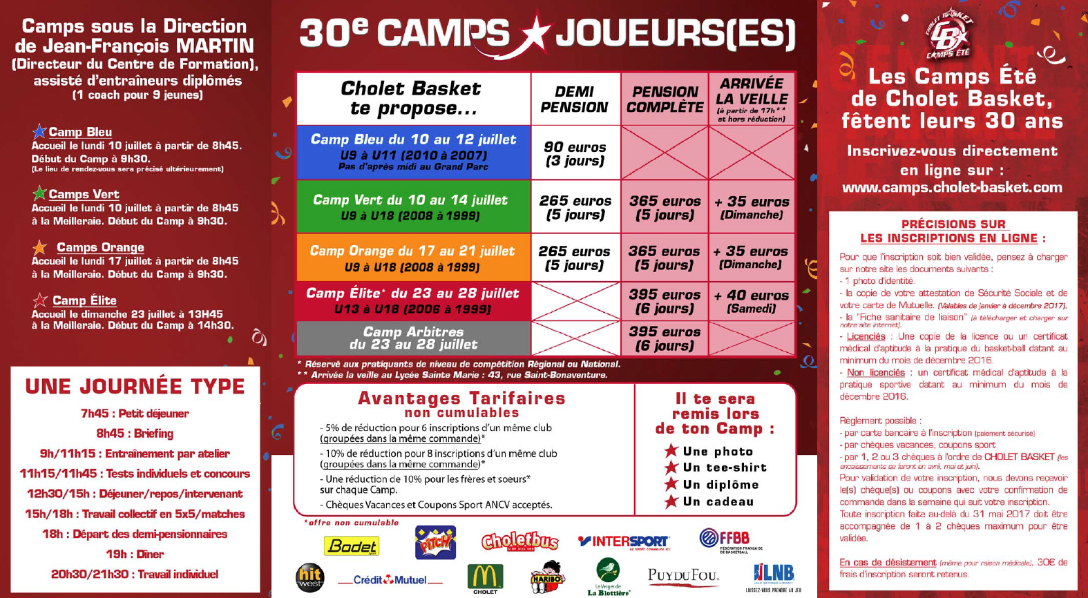 Cholet Basket Camps