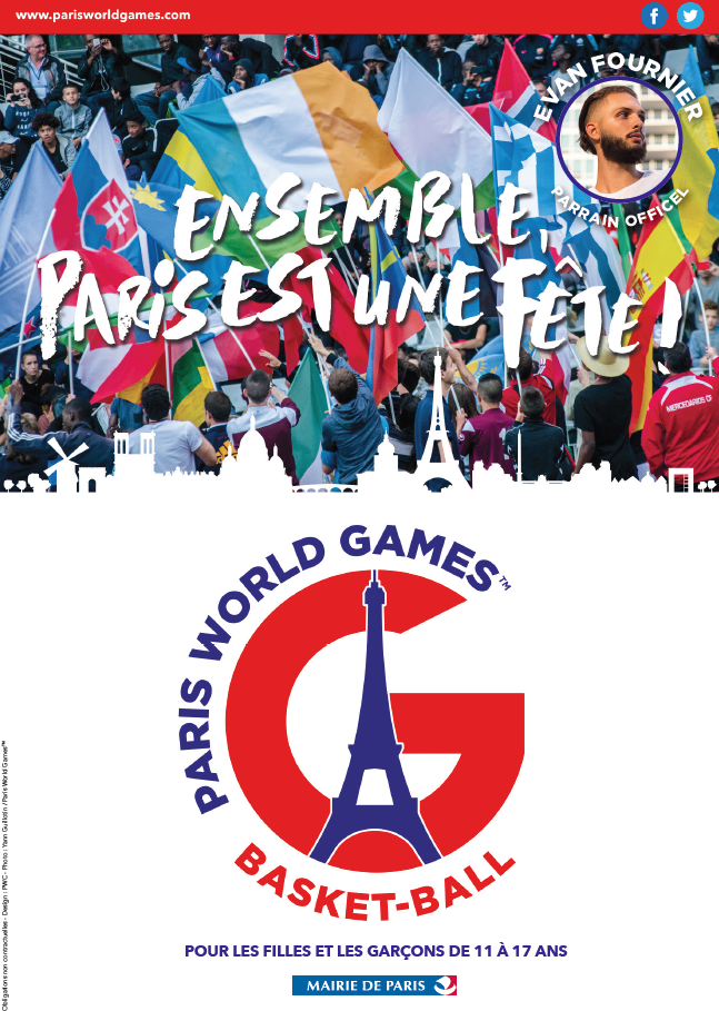 TOURNOI PARIS WORLD GAMES DU 07 JUILLET AU 13 JUILLET 2017