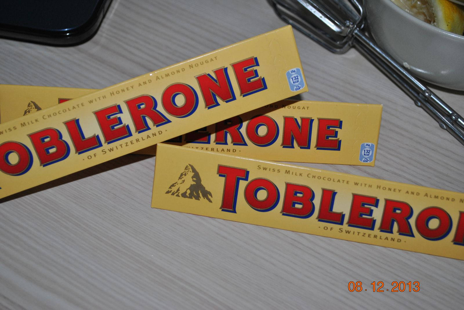 Cupcakes chocolat-toblerone