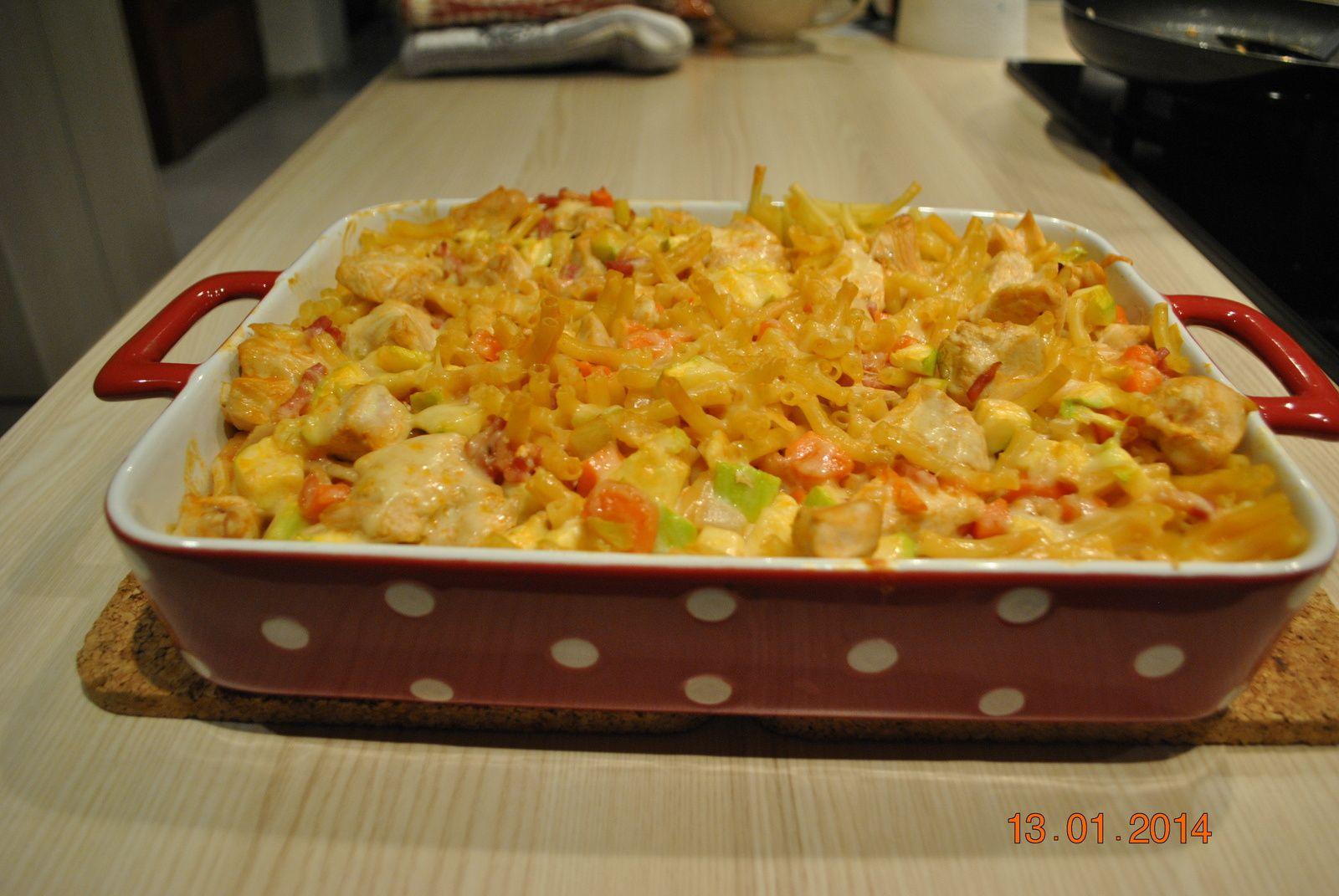 Gratin de macaronis au poulet!