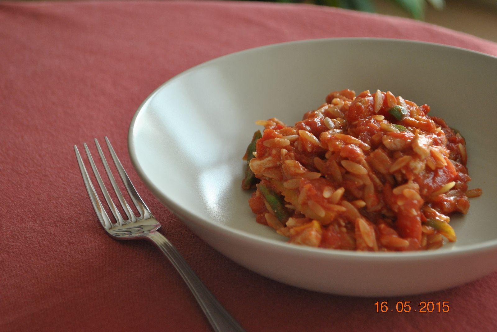 Risones poulet et tomates