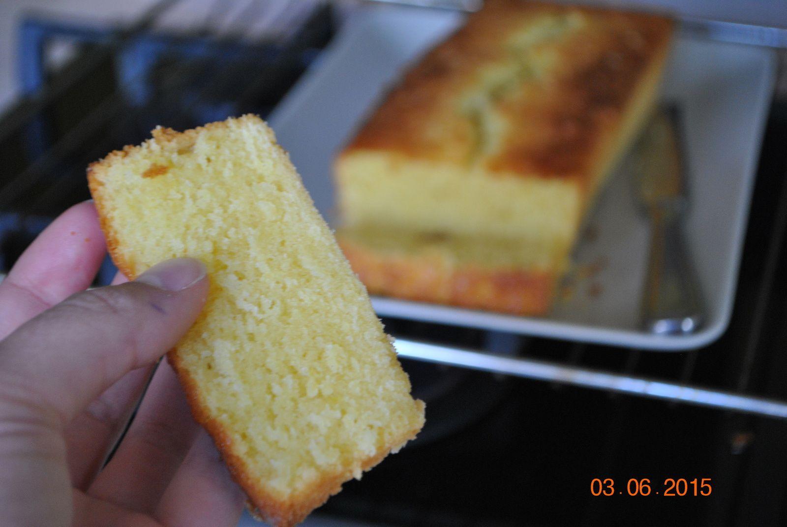 cake au citron et gingembre confit