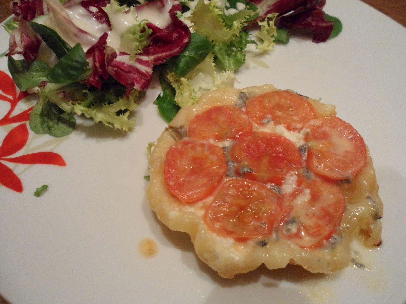 Tatin de tomate cerise et chèvre