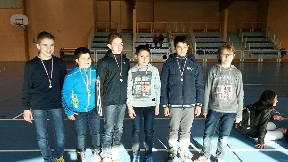 Résultats Badminton Benjamins (es) district