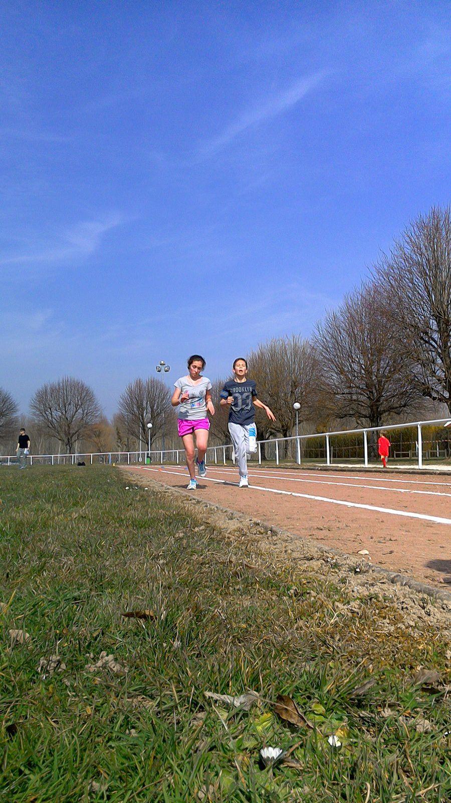 Photos de l'entraînement d'athlétisme estival