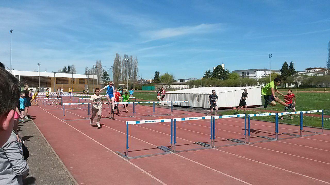 Photos championnats de l'Aube d'athlétisme Troyes 15/04/15