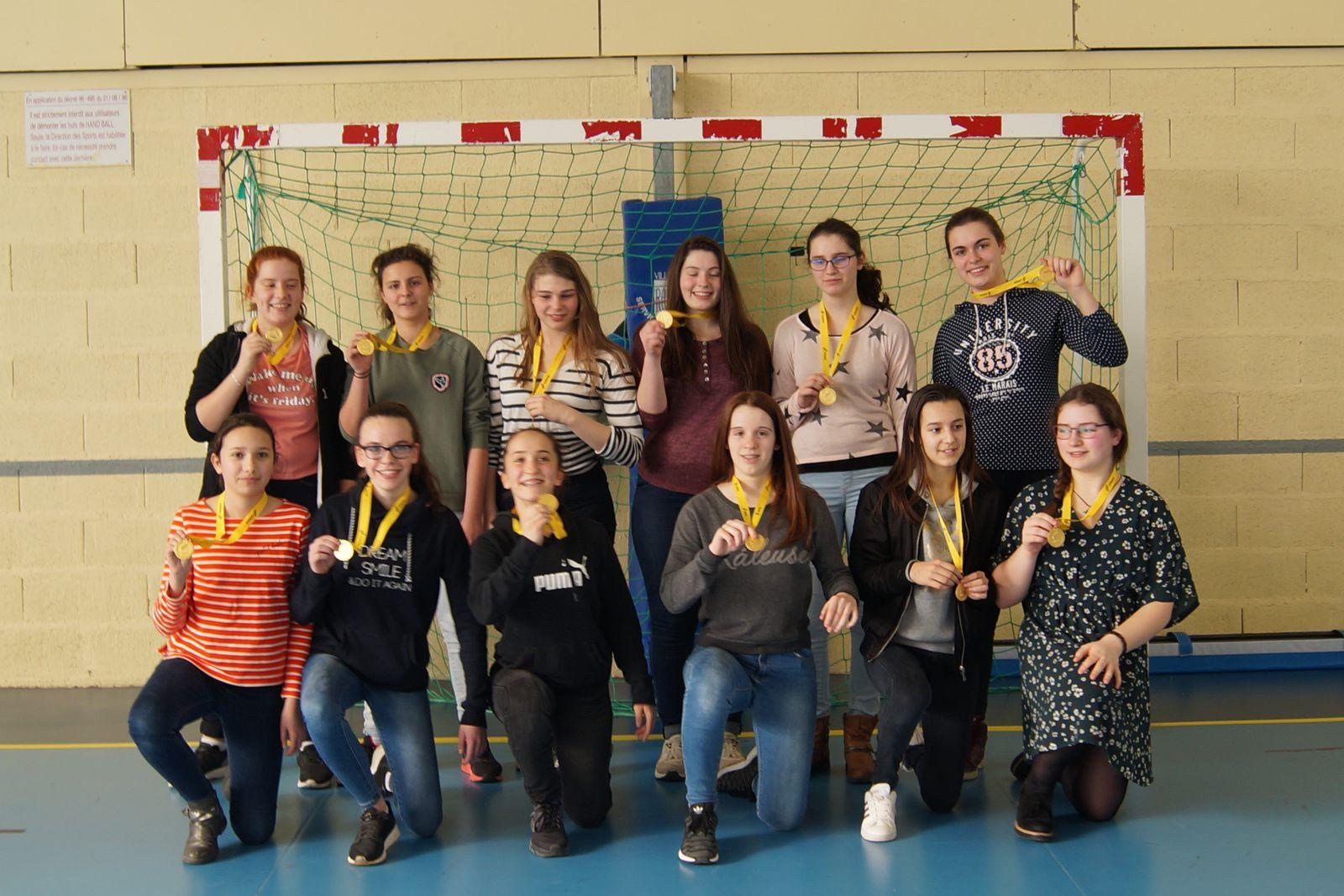 Championnat d'Académie HB minimes FIlles mars 2017 reims