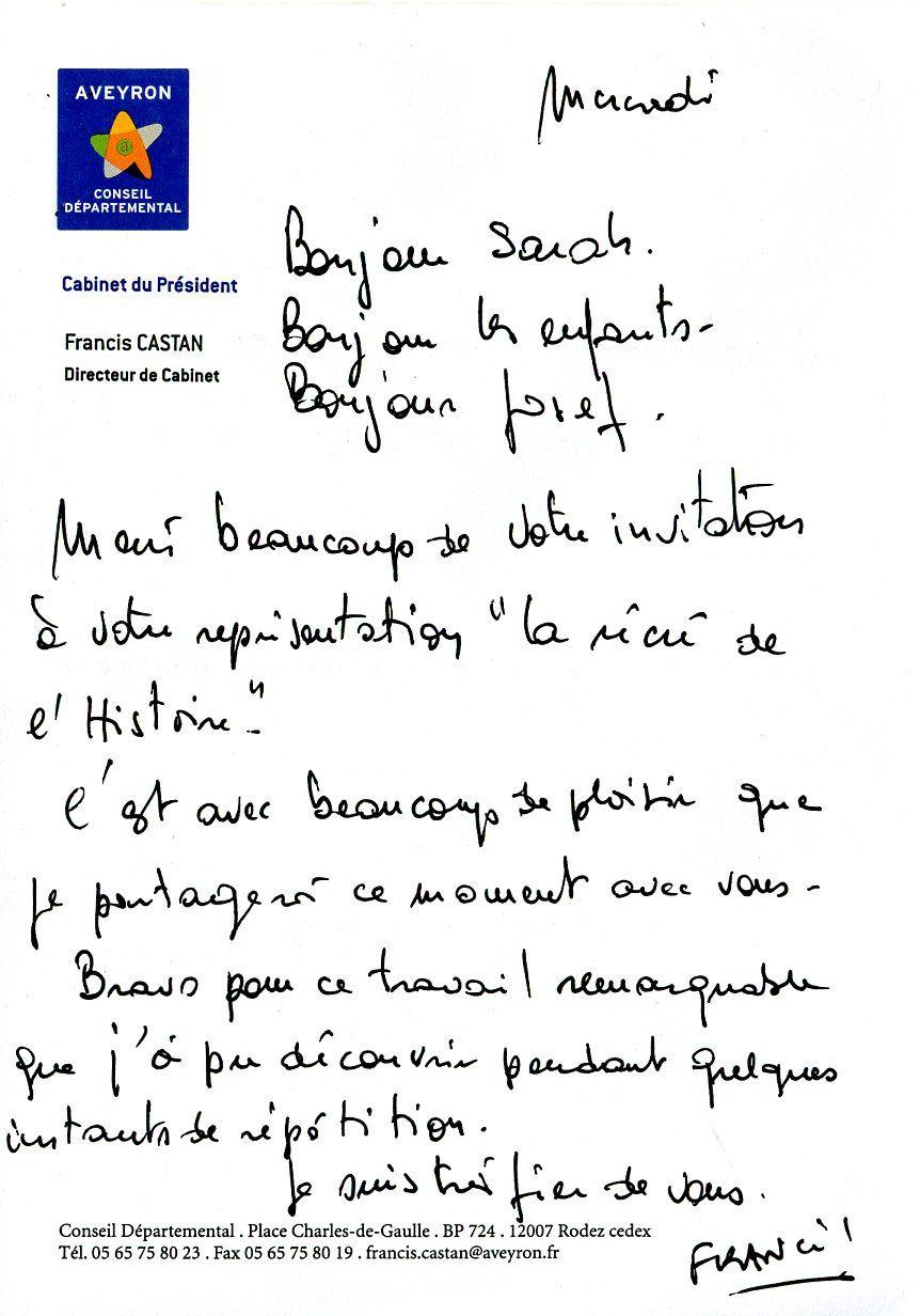Un courrier du parrain des Carabistouilles....