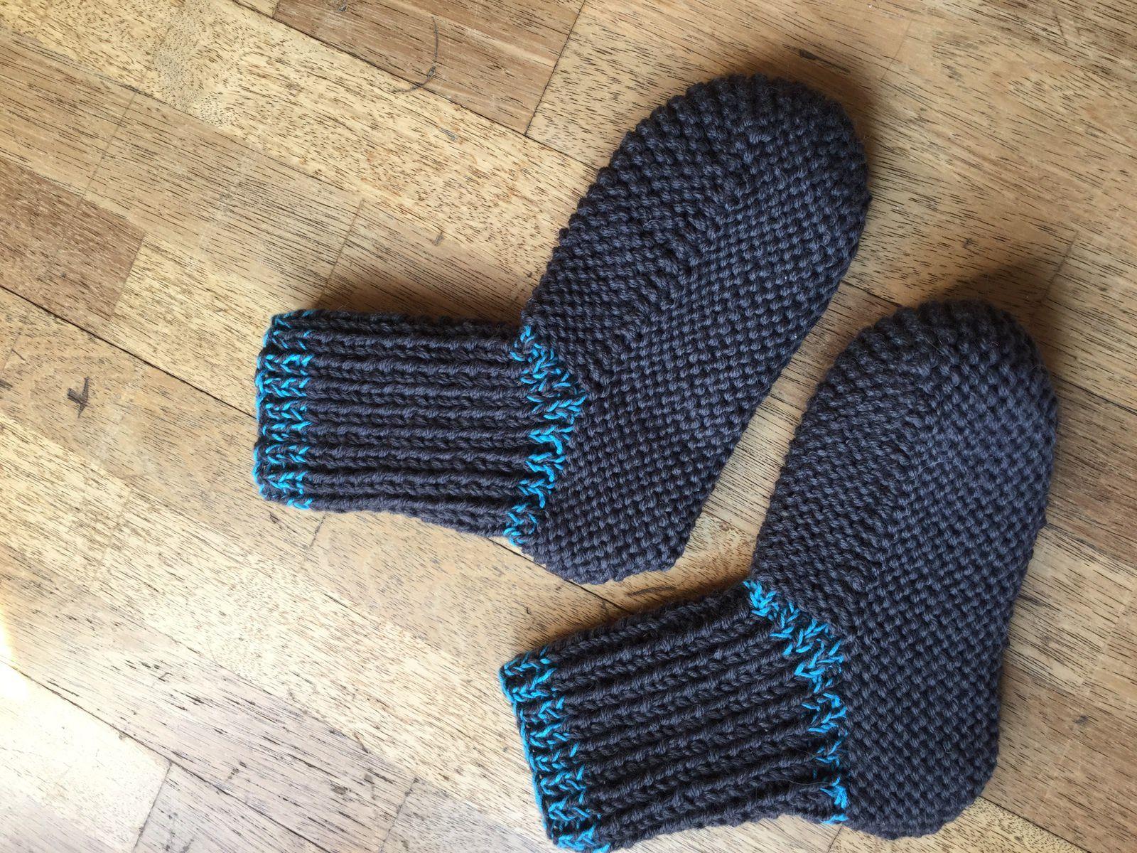 Des chaussons en tricot pour monsieur