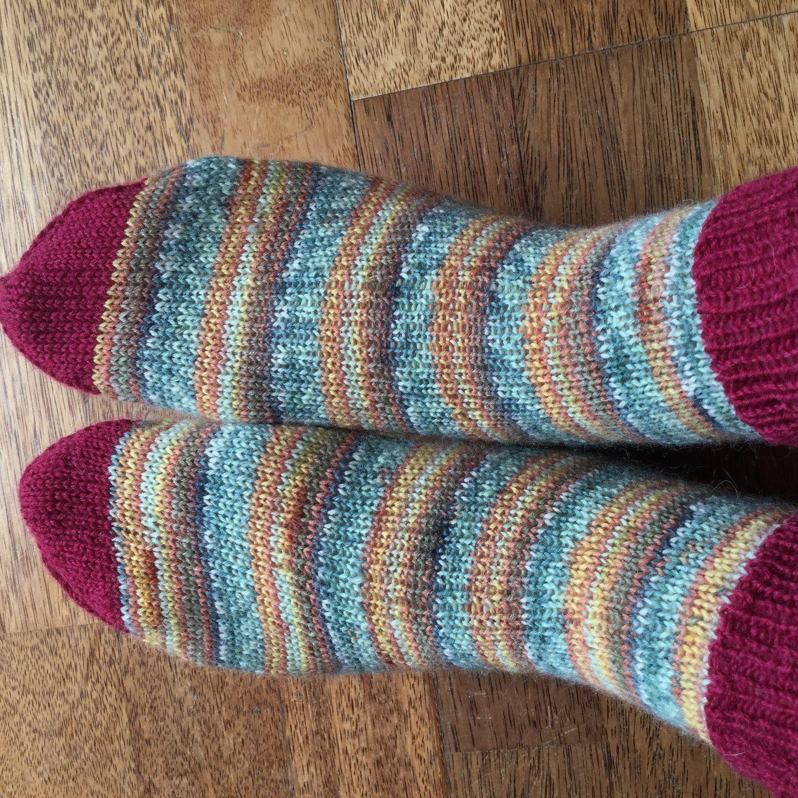 Mes chaussettes moches tricotées