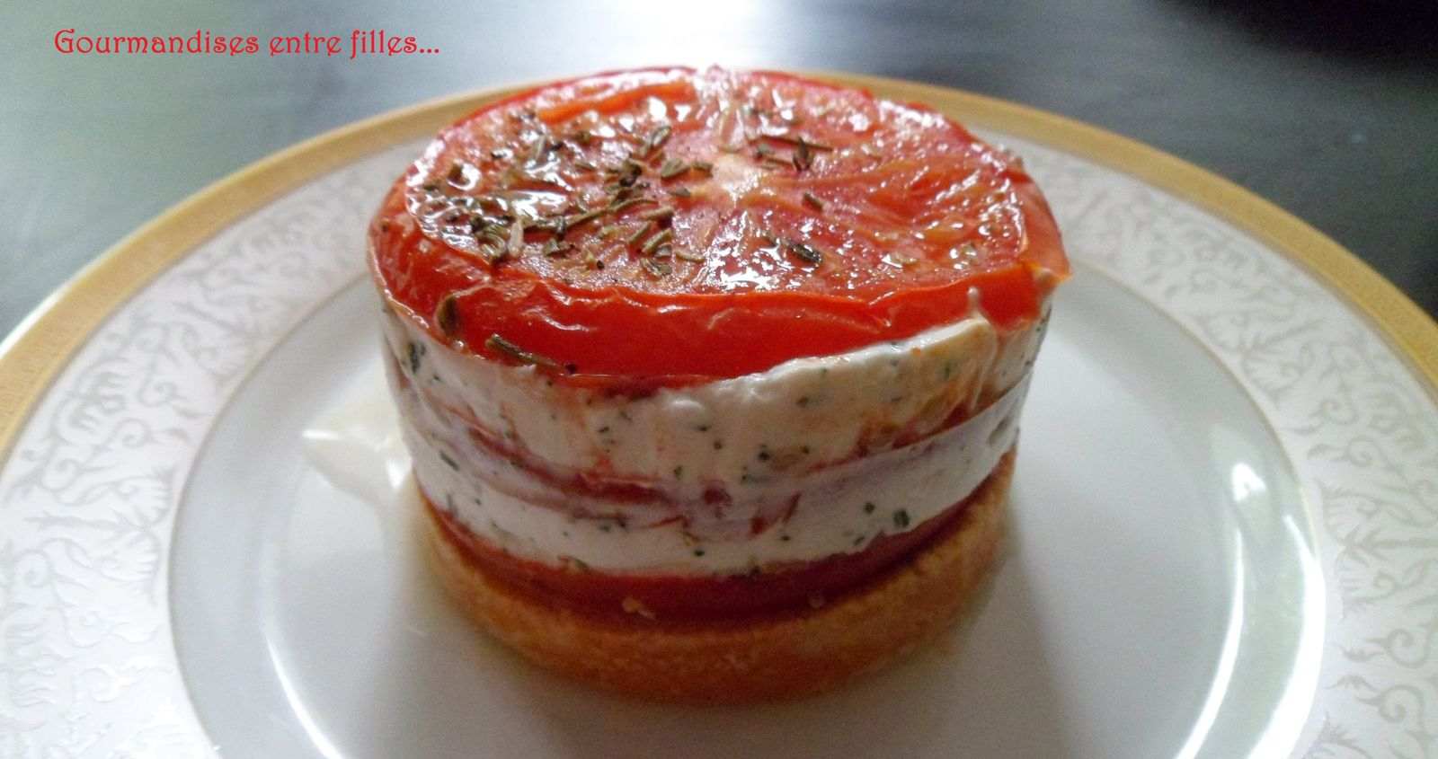 Petit cheesecake ch vre tomate gourmandises entre filles for Entree sympa facile