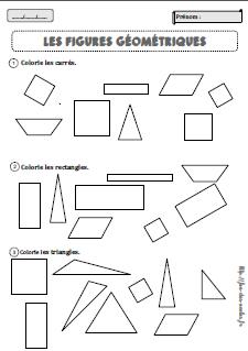 Figures Géométriques Cp Fée Des écoles
