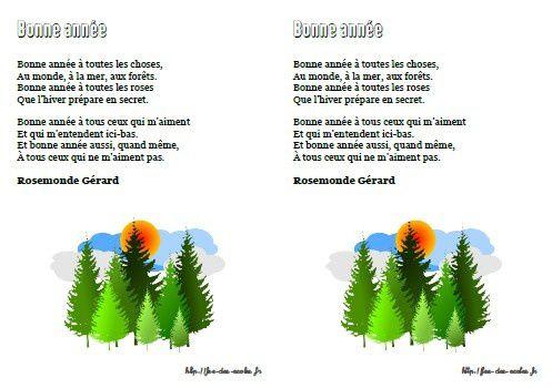Bonne année - Rosemond Gérard - GS-CP-CE1-CE2-CM1-CM2