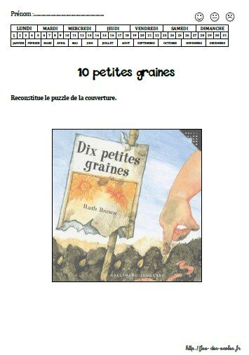 10 petites graines - Ruth Brown - PS-MS-GS-CP