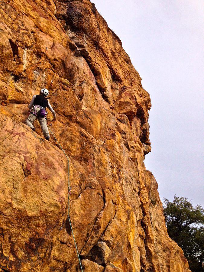 Séance de grimpe au Blavet face Sud