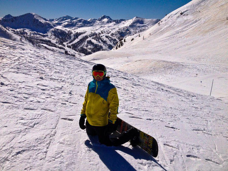 Ski à Isola avec Simon (pendant que Jean ski à Auron...)