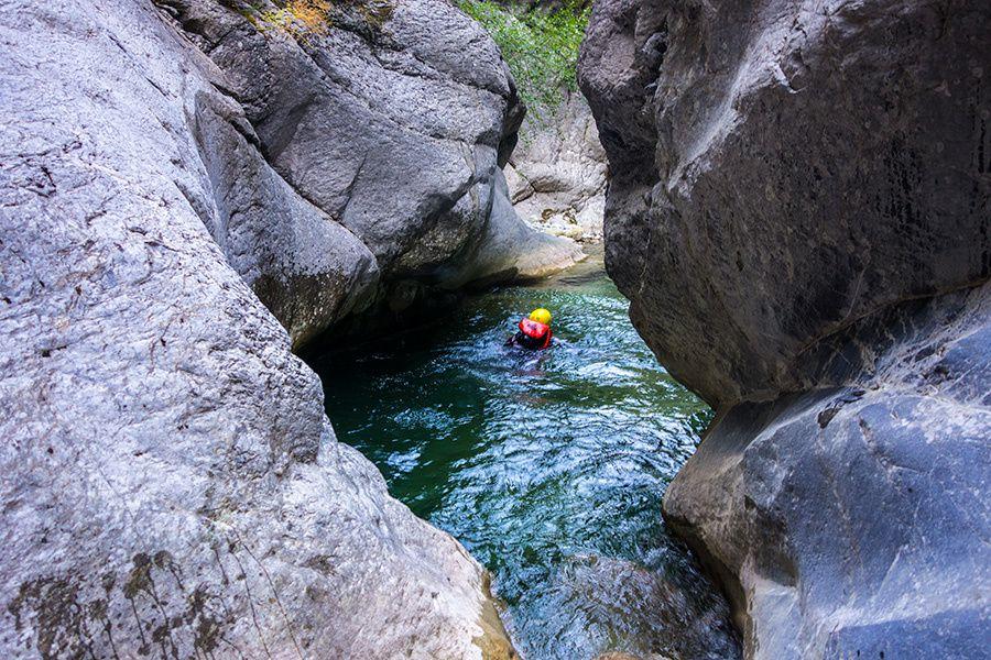 Canyon de Cramassouri avec Simon