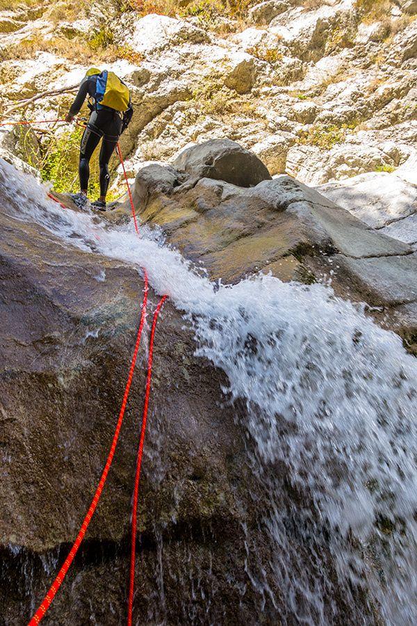 Canyoning : le Gours du Ray à Gréolières