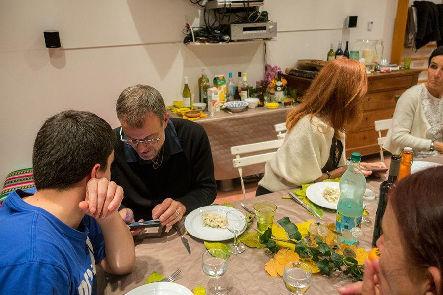 Repas des randonneurs à la maison