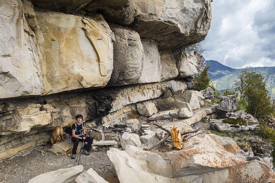Martine fait le tour du vallon de Mangiarde depuis La Tour-sur-Tinée (603m)