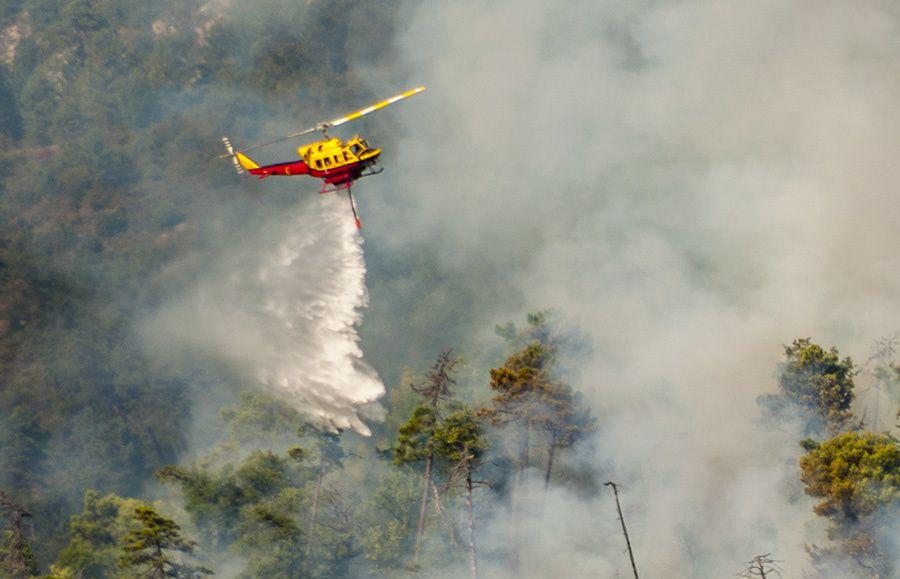 Incendie à Saint-Blaise, au-dessus de Saint-Antoine de Siga